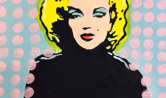 How to Paint Pop Art With Acrylics - Marilyn