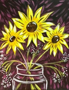 painting fundraiser - sunflowers